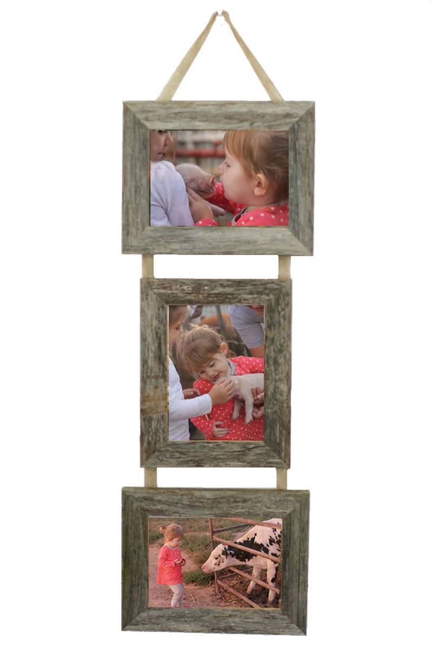 5x7 Triple Barnwood Frame Set Multi Photo Frame 2 Landscape 1
