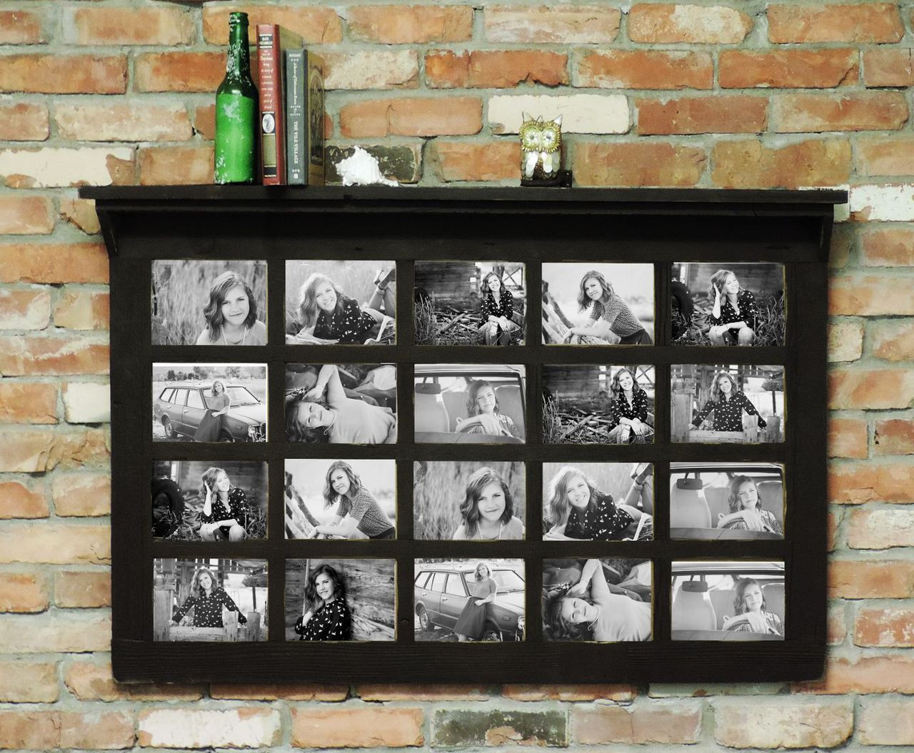 5X7 Farmhouse Family Collage Frame - 20 Opening With Shelf