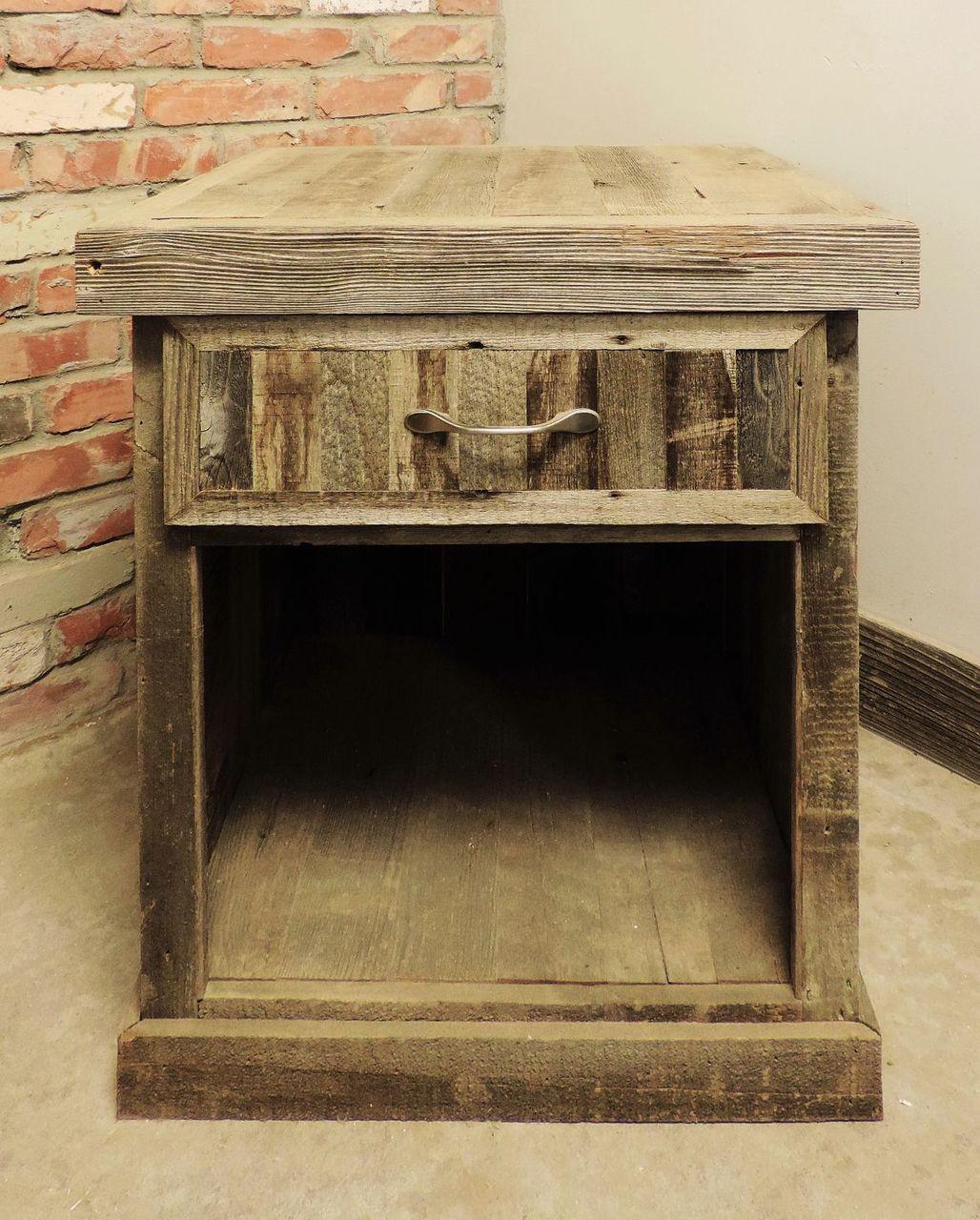Reclaimed Wood Nightstand Handmade In The Usa Ships Free