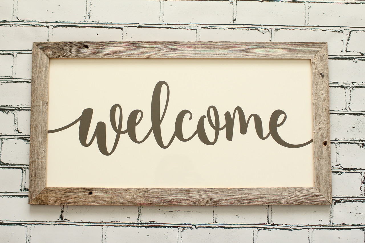 Wooden Signs   Welcome Sign   Free Shipping Over $75