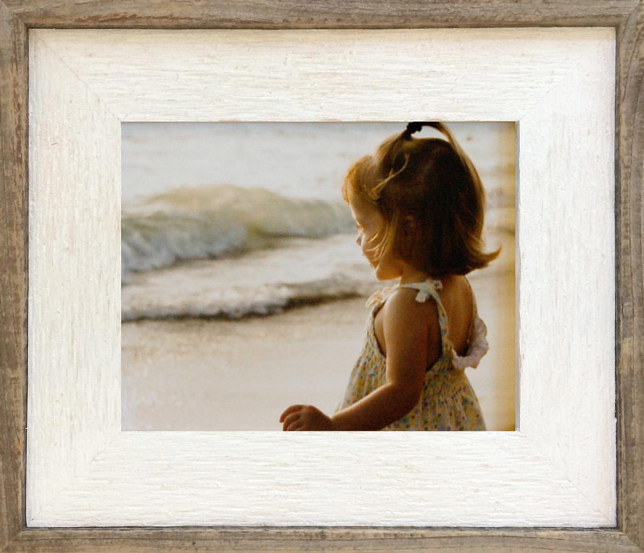 Barnwood Picture Frame With Whitewash Finish 20x24