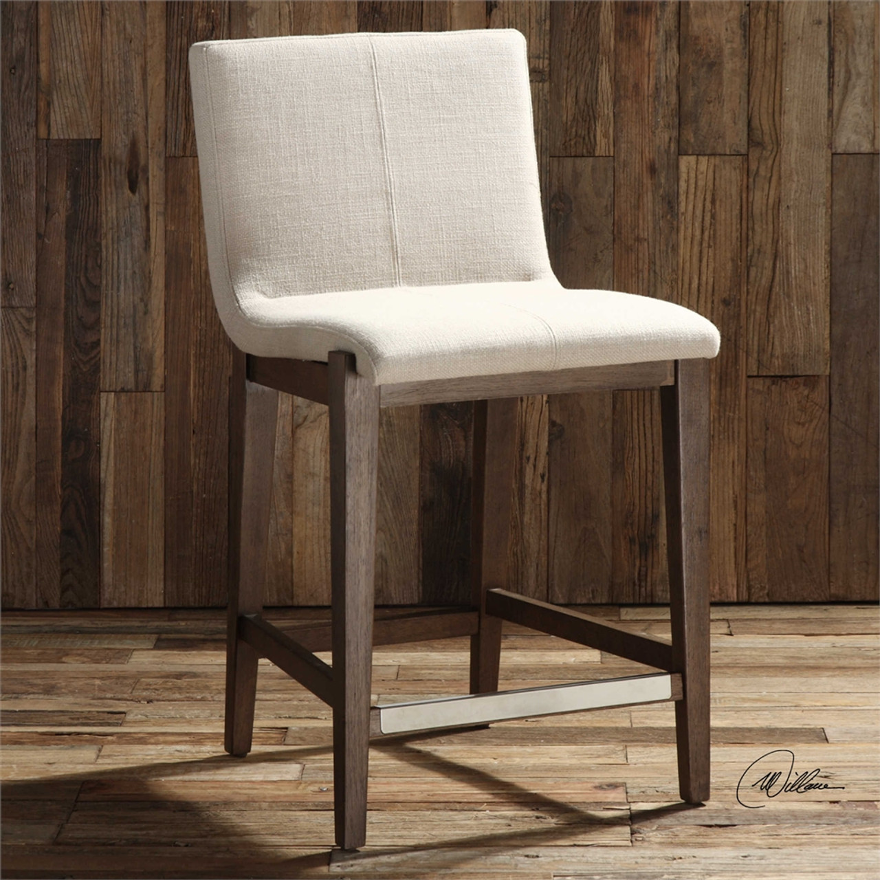 Super Klemens Linen Counter Stool Gmtry Best Dining Table And Chair Ideas Images Gmtryco