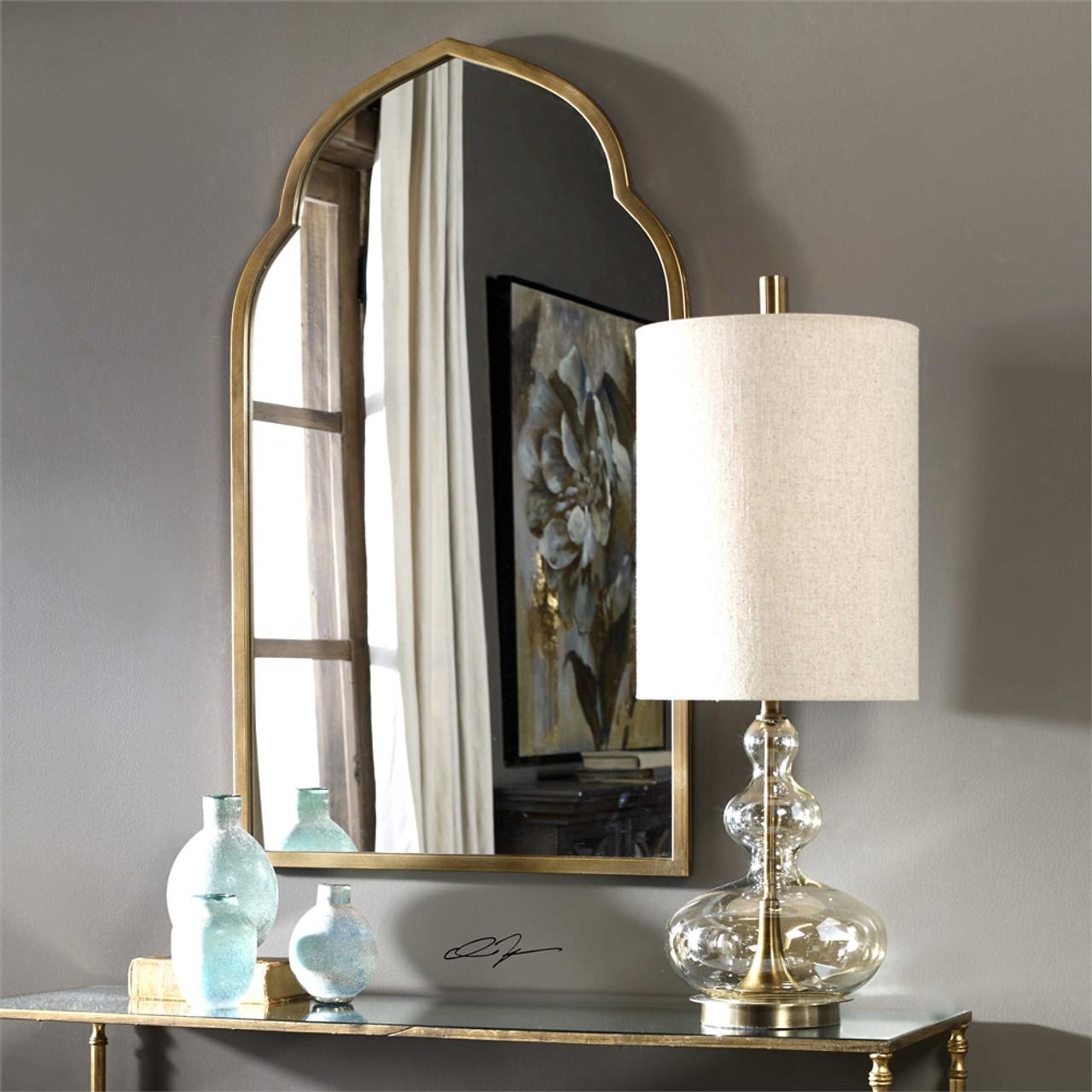 Uttermost Formoso Amber Glass Table Lamp Mybarnwoodframes Com