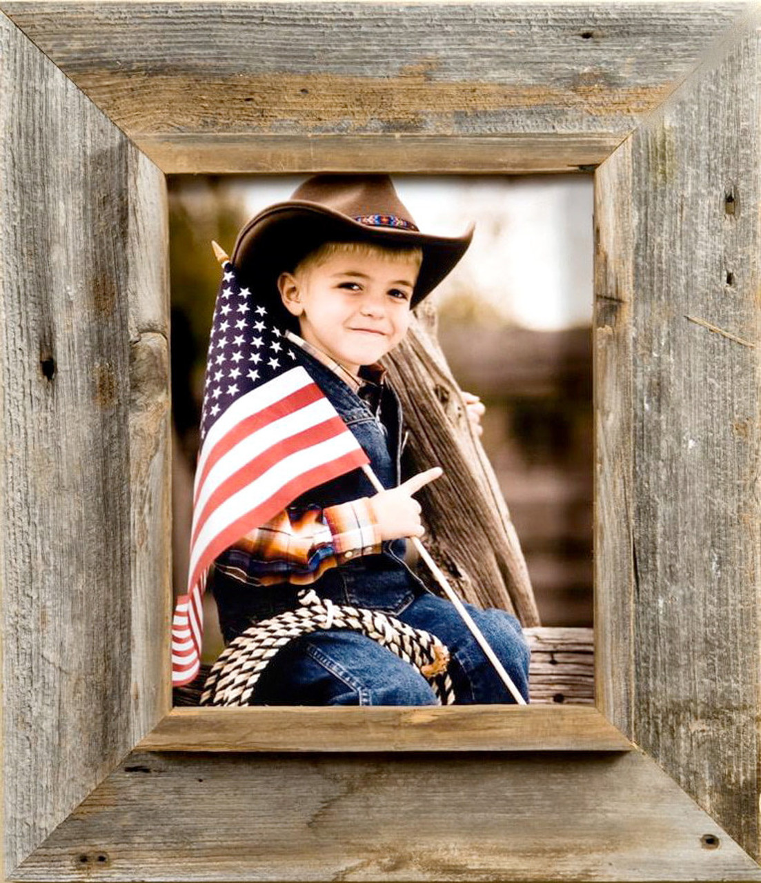 Western Picture Frames Rustic Wood Distressed Frame 8x10