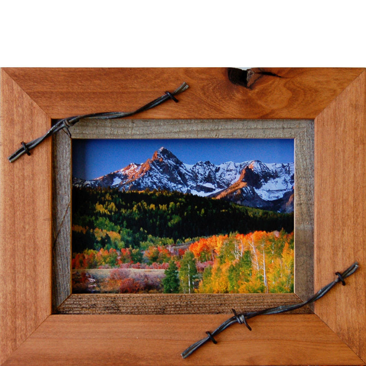 Western Frames 5x7 Wood Frame With Barbed Wire Sagebrush Series