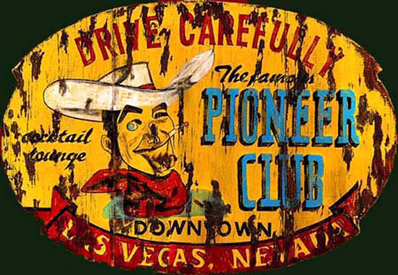 Nostalgic Casino Signs - Heavily Distressed Western Sign