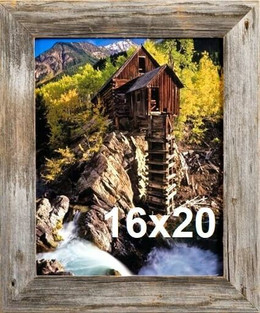 Montana 1.5 Barnwood large Frame Country Western Style Farm house hand made reclaimed barn wood picture frame