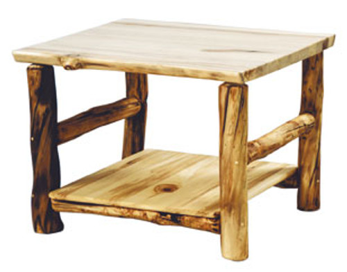 Pleasing Rustic Log Corner Table 32X32 Inches Square Alphanode Cool Chair Designs And Ideas Alphanodeonline