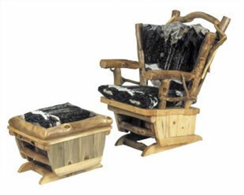 Peachy Twig Art Log Rocking Chair And Gliding Ottoman Set Dailytribune Chair Design For Home Dailytribuneorg