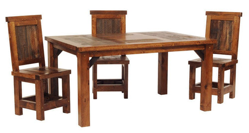 Reclaimed Barnwood Dining Table 60 Inch Rustic Wood