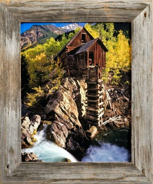 Barnwood Picture Frames 8x10 Inch Reclaimed Wood Frame