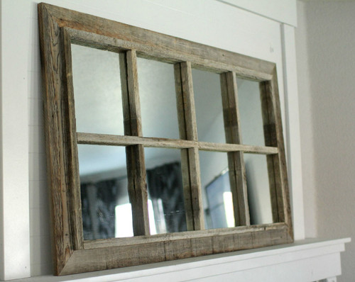 rustic wood mirror full length rustic mirror window pane barnwood panes mirrors reclaimed wood distressed iron
