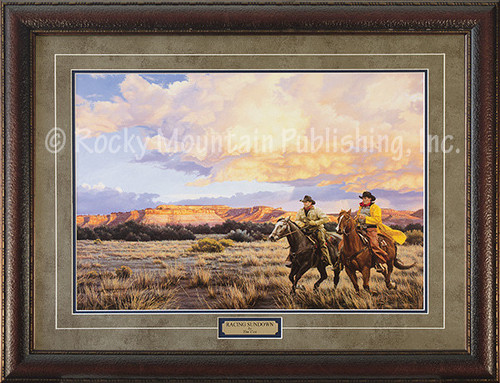Pull It One More Mile Ross Taylor Framed Western Art White Horse