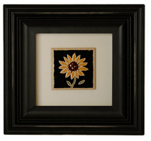 Square Black Picture Frame 6x6 Wood Frame With Scoop Molding