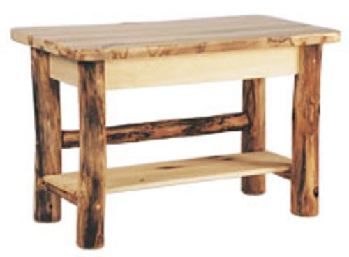 Fantastic Log Sofa Table Rustic Aspen Wood Alphanode Cool Chair Designs And Ideas Alphanodeonline