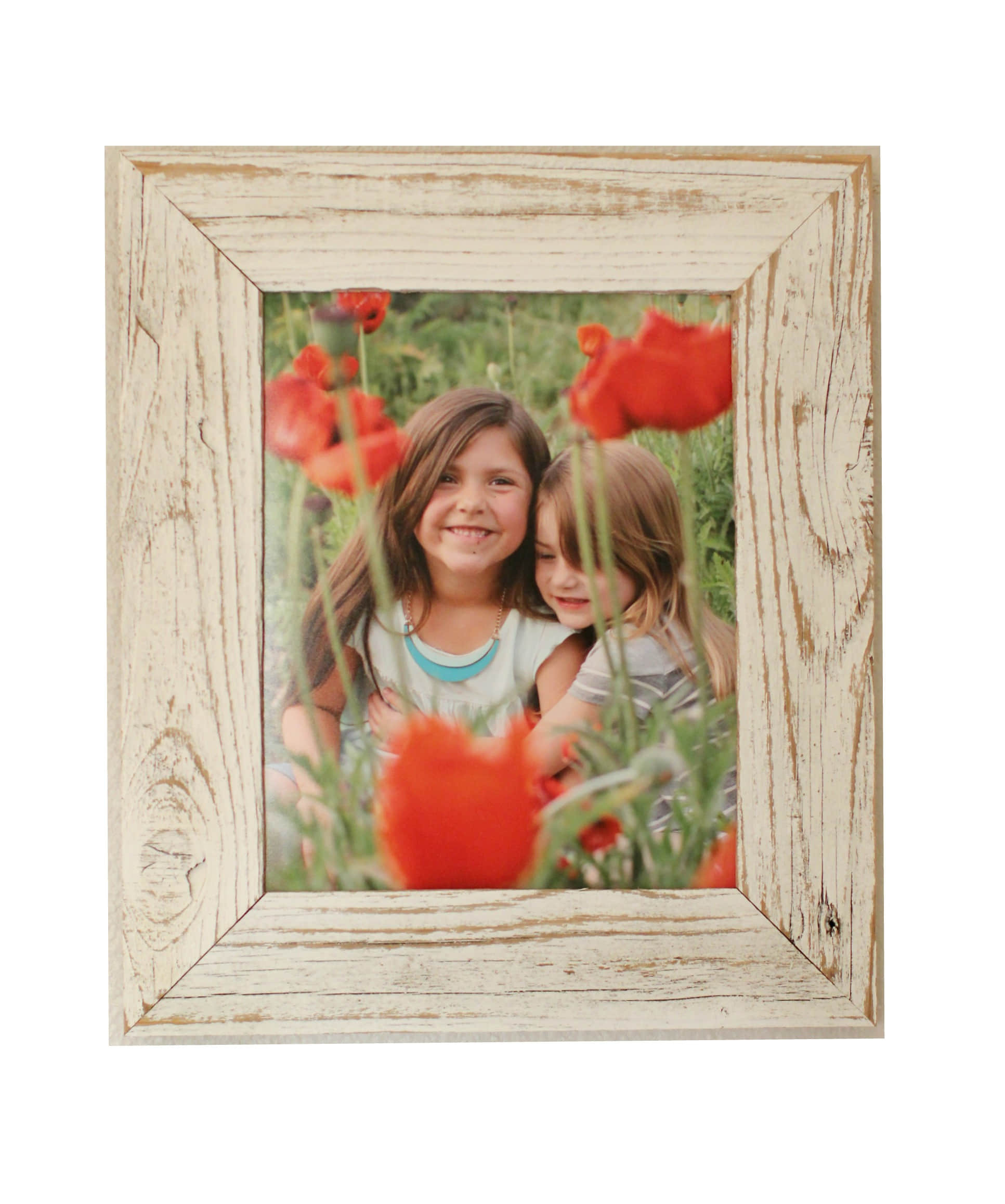 Antique White Reclaimed Wood Frame