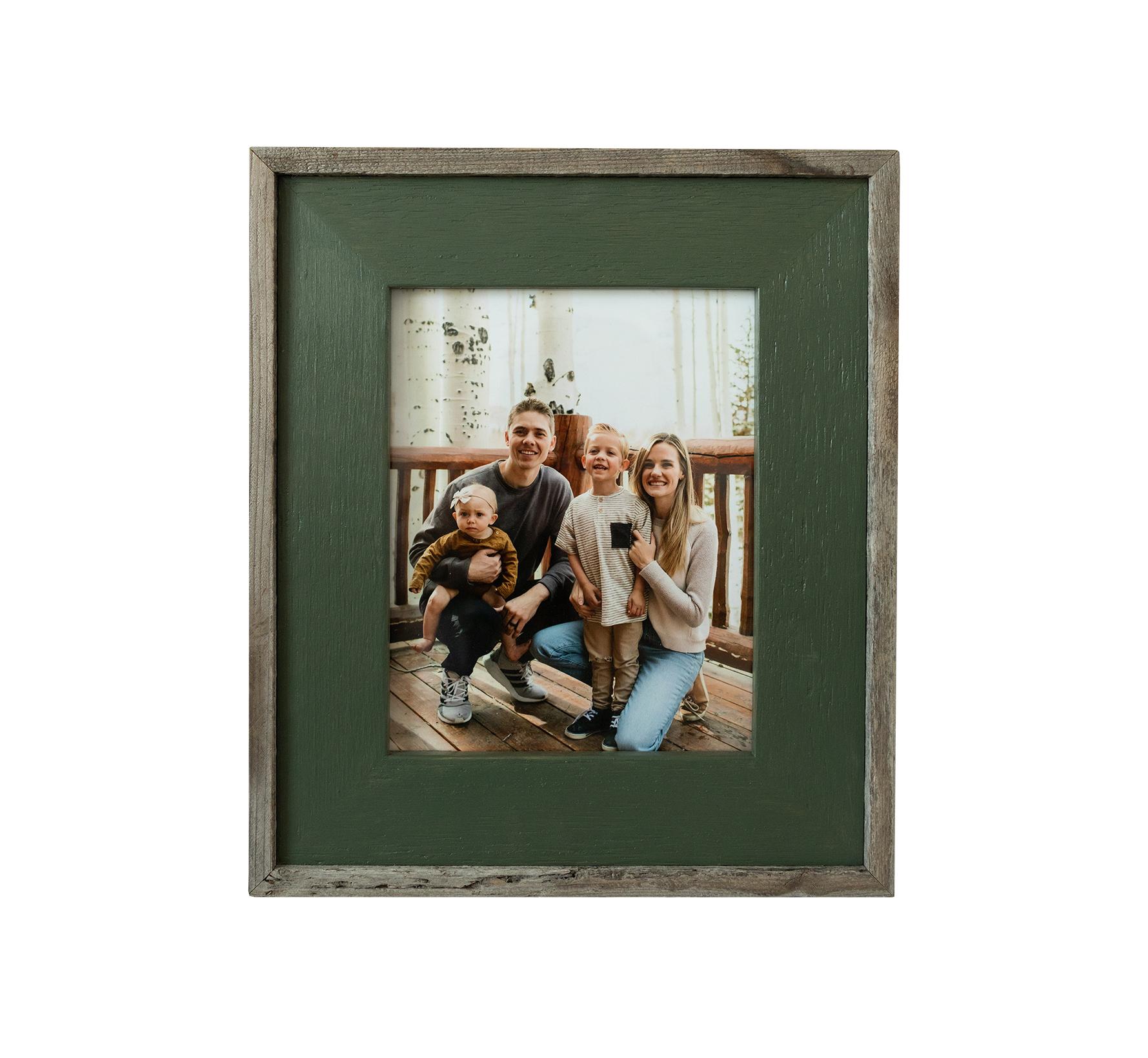 Green Wash Barnwood Frame