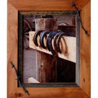Sagebrush Rustic Frames -  Alder & barbed wire