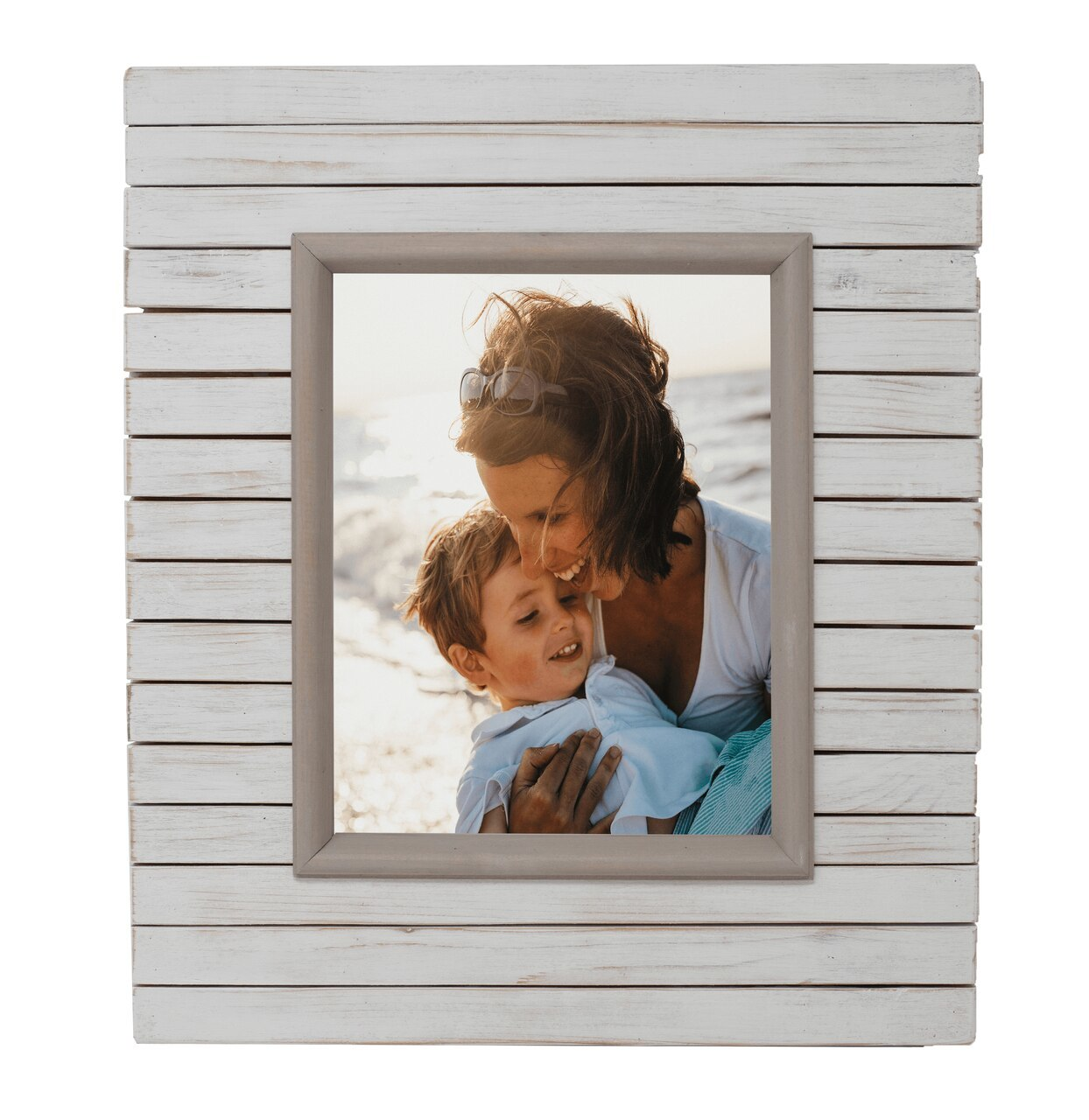 Fairview Slat Photo Frame - Whitewash