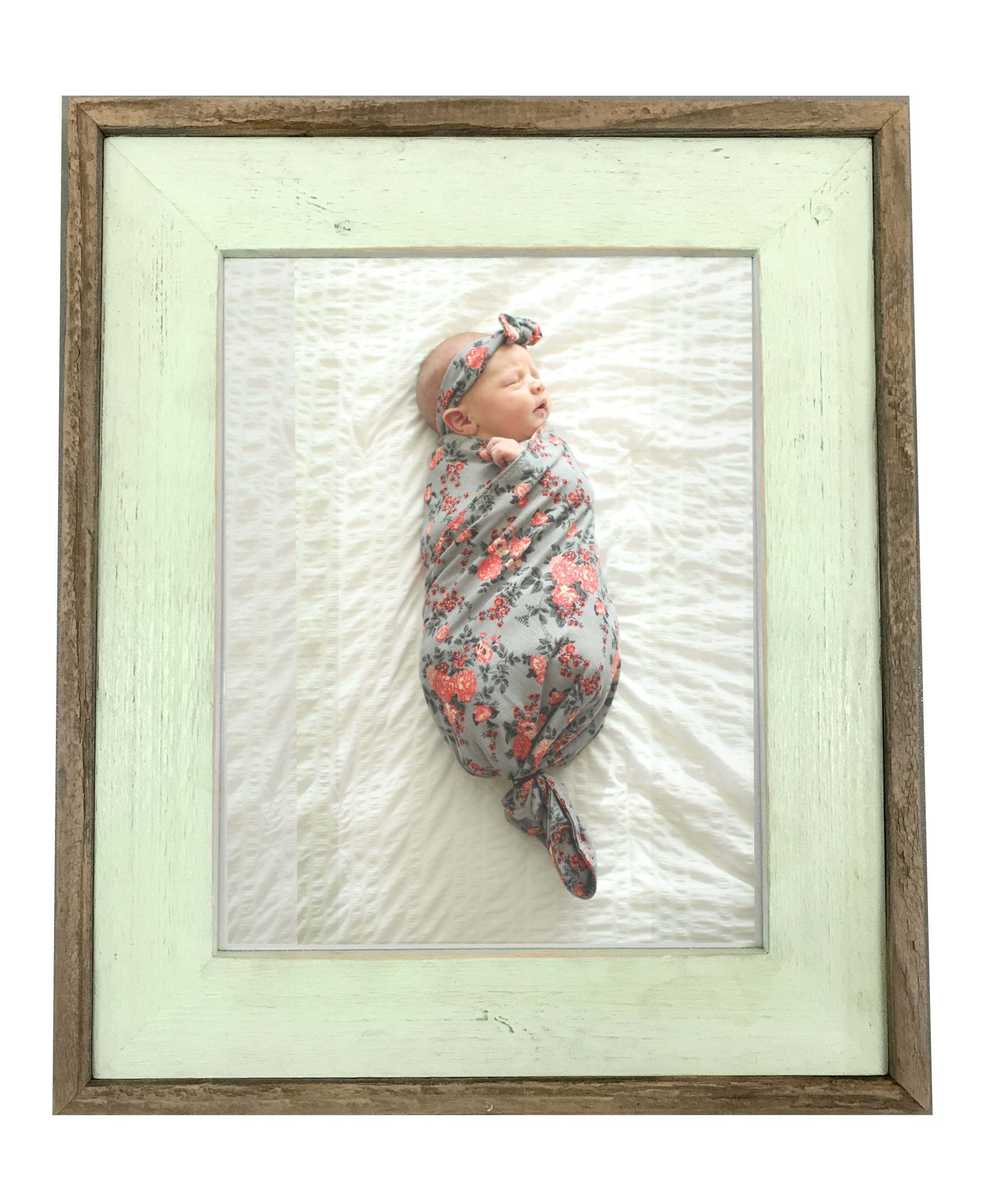 Sea Foam Green Barnwood Frame