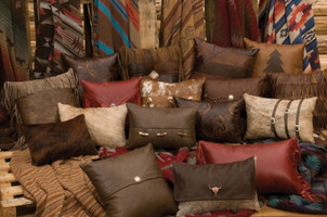 Leather Hair on Hide Pillows