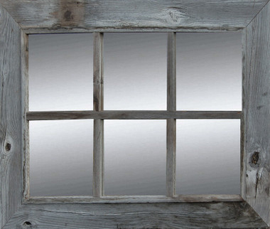 rustic window pane mirror rustic barnwood mirror country 6 pane