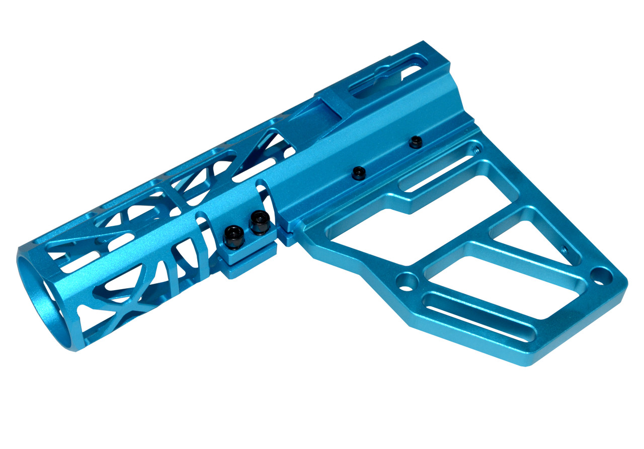 Skeletonized  Aluminum  Grip Blue  556 233 308 300blk