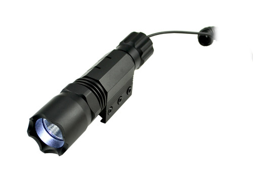 Tactical LED Flashlight with Picatinny Ring, 260 Lumens