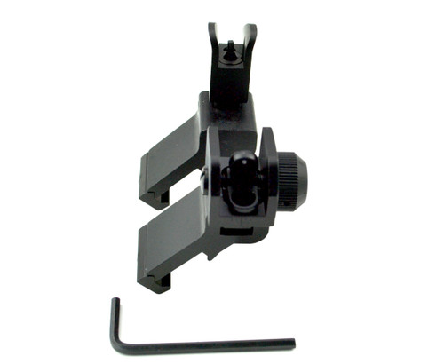 Rapid Trans Flip Up Sights, 45º Offset, Aluminum Front & Rear Set