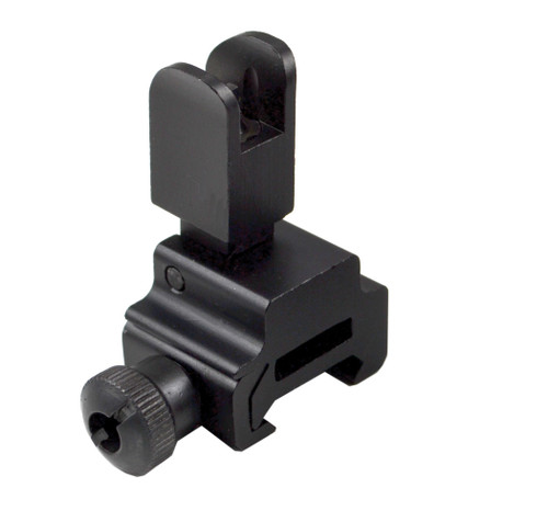 AR Flip-Up Front Backup Sight, High Profile, Aluminum, Black