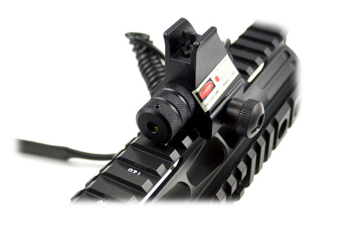 AR Front Sight Post with Red Dot Laser, Receiver Height, Aluminum