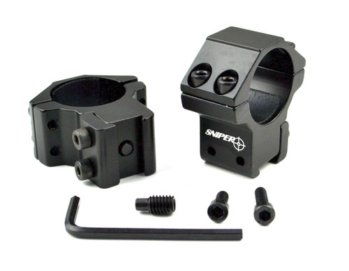 "Sniper 1"" Medium Profile Scope Rings For Dovetail System"