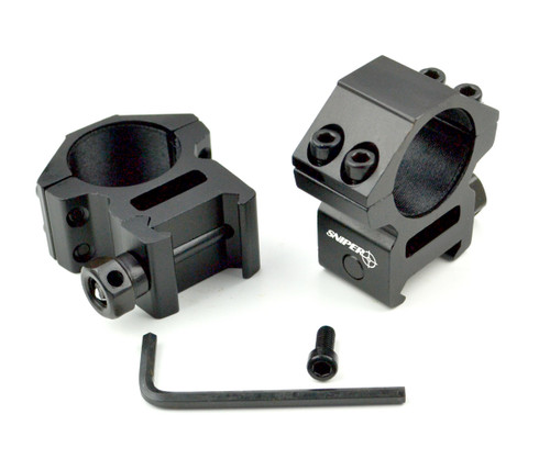 "Sniper 1"" Medium Profile Scope Rings for Picatinny Rail"