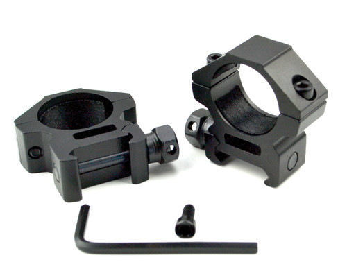 """Sniper 1"""" Low Profile Scope Rings for Picatinny Rail"""