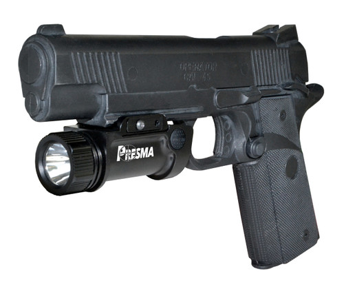 Presma® Pistol / Handgun Tactical Light (1000 Lumens, Rail-Mounted, Rechargeable)