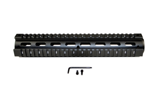 "AR-15 12"" Rifle Length 2pc Drop-In Handguard, for ROUND End Cap"