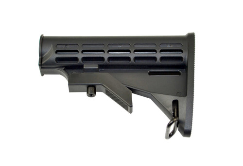 Mil-Spec Adjustable Stock w/ Sling Adapter, Black