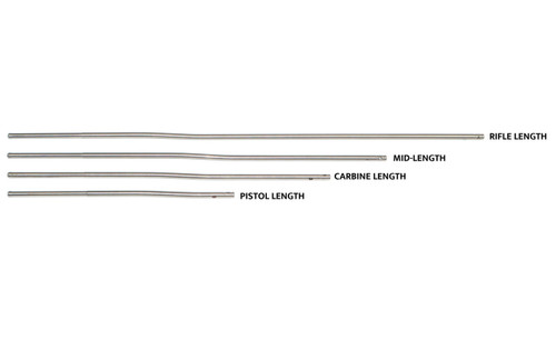 AR Stainless Steel Gas Tube With Roll Pin - Pistol Length 6.75in