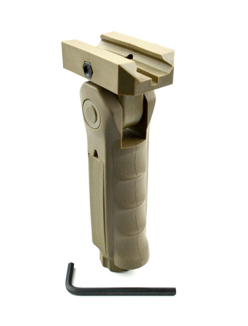 Tactical 5 Position Folding Foregrip, Tan