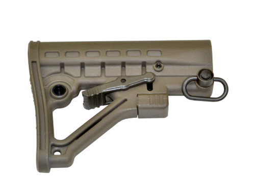 Mil-Spec Adjustable Stock w/ QR Sling Adapter, Green