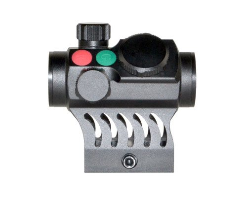 """Presma® Red Hawk Series Compact Reflex Red/Green Dot Scope with Integrated 1"""" High Profile Picatinny Mount"""