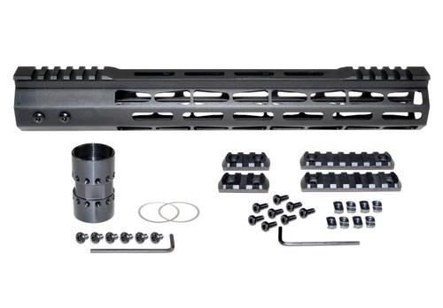 "Presma® AR-10 LR 308 Super Light M-LOK Series Free Float Handguardswith Partial Top Rail, 13"" DPMS Low Profile"