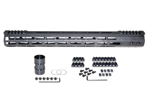 "Presma® AR-10 LR 308 Super Light M-LOK Series Free Float Handguardswith Partial Top Rail, 17"" DPMS Low Profile"