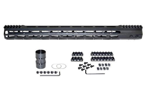 "Presma® AR-10 LR 308 Super Light M-LOK Series Free Float Handguardswith Partial Top Rail, 19"" DPMS Low Profile"