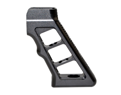 AR Skeletonized Rear Pistol Style Grip, Black Anodized Aluminum