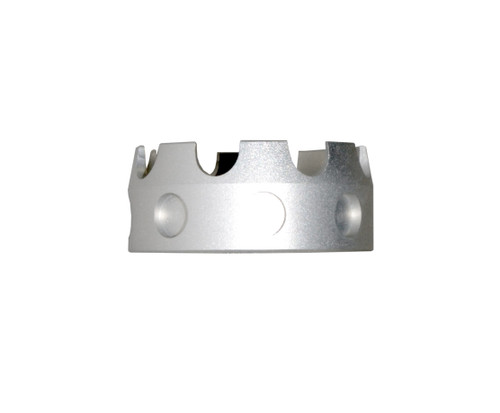 Aluminum Castle Nut for AR .223/5.56/.308 Buffer Tube Receiver End Plates, Silver