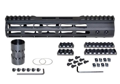 """(M38MP/L10-A) Presma® AR-10 LR 308 Super Light M-LOK Series Free Float Handguards with Partial Top Rail, 10"""" DPMS Low Profile"""
