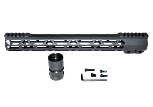 "New Presma® Super Light Slim Free Float M-LOK Handguards with Partial Top Rail, 15"" AR-15 223/5.56."