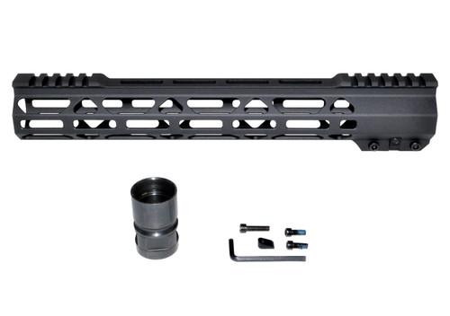 "New Presma® Super Light Slim Free Float M-LOK Handguards with Partial Top Rail, 12.5"" AR-15 223/5.56."
