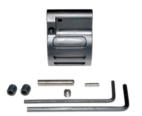 "AR-15 ADJUSTABLE  Low Profile Gas Block, 0.750"" Black Steel (GB10)"